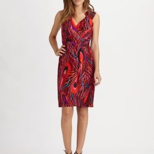 MILLY Marissa Peacock Feather Dress